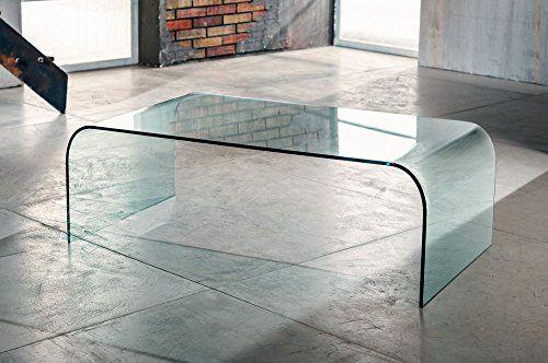 Tavolino da salotto 110x60 H38cm Ponte in vetro curvato ...