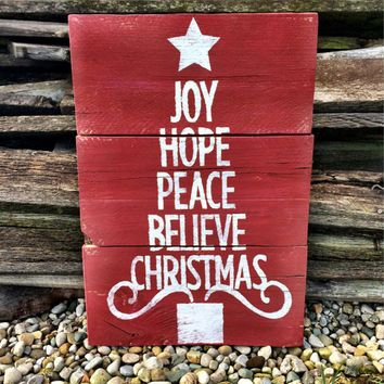 Christmas Sign Decorations Christmas Sign Christmas Decor Christmas Pallet Decor Holiday Sign