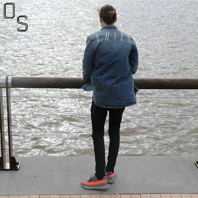 8d4b2daeca9  OutfitSociety Presents  derektickner waves don t die  Off White Denim  Jacket Zara Denim Jeans and Adidas x Yeezy Boost 350 v2.