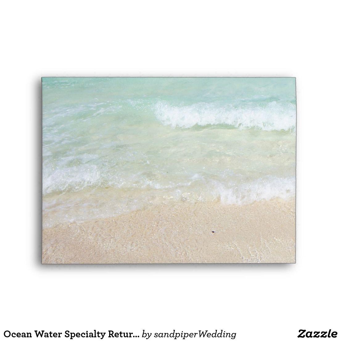 ocean water specialty return address a7 envelope tropical ocean