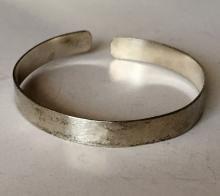 Vintage sterling silver cuff satin finish bracelet