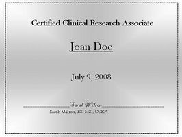 How To Get Certified As A Clinical Research Associate Ehow Clinical Research Clinic Research