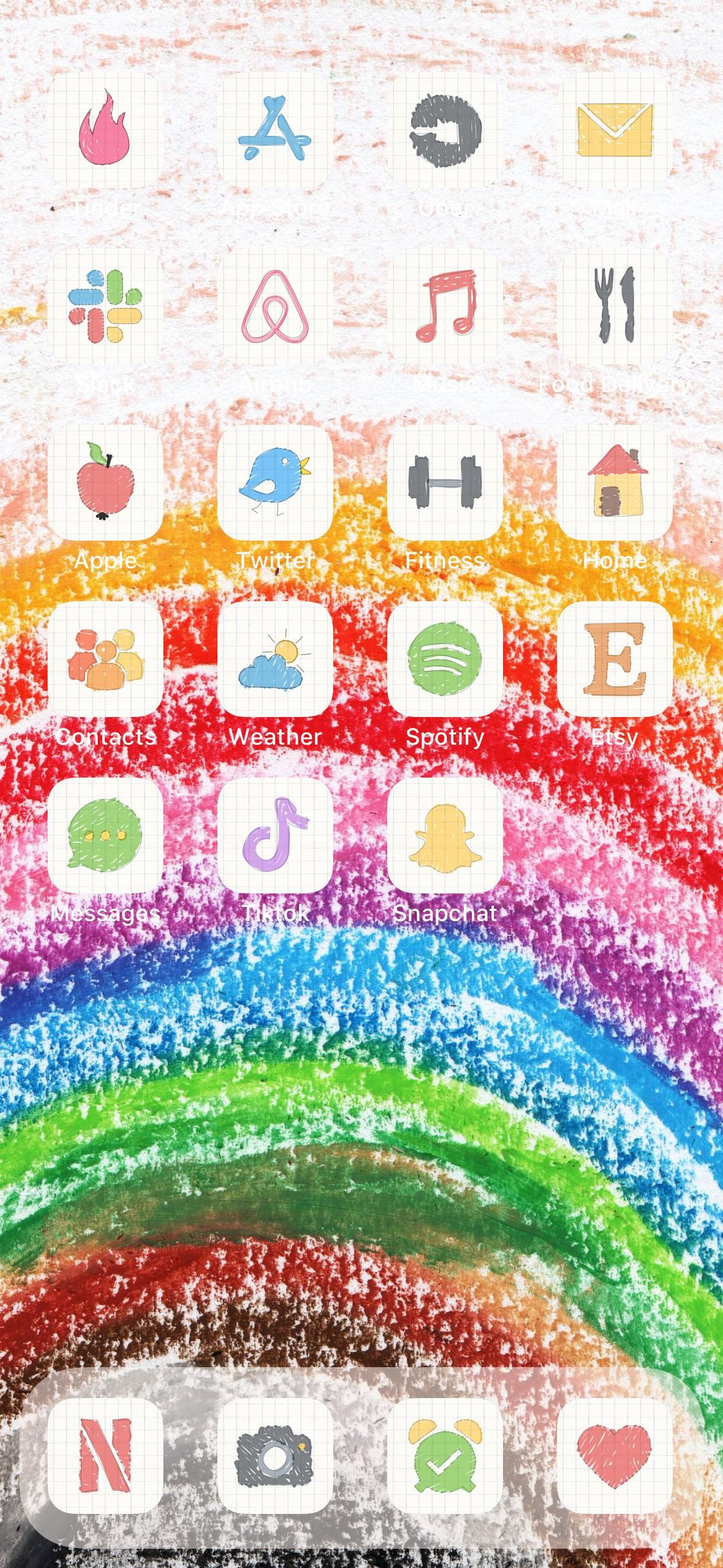 Doodle app icon covers for ios 14 home screen etsy app