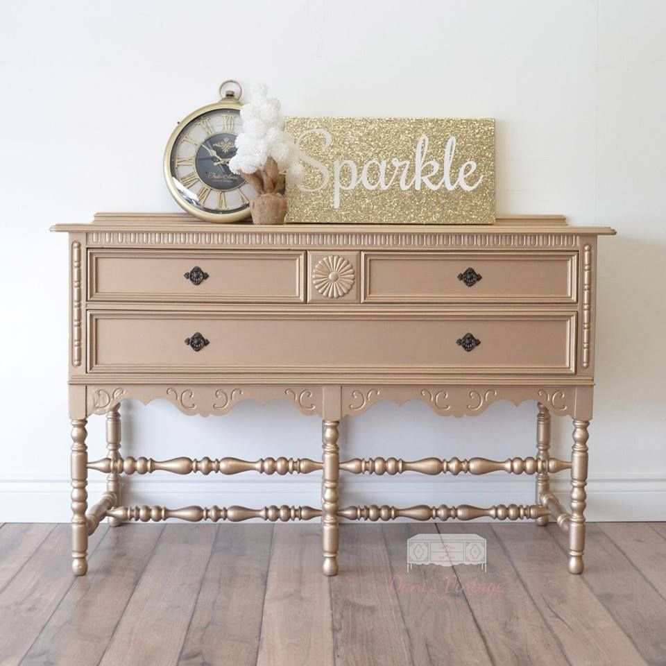 Superbe Painted Buffet, Painted Sideboard, Sideboard Buffet, Metallic Painted  Furniture, Paint Furniture,