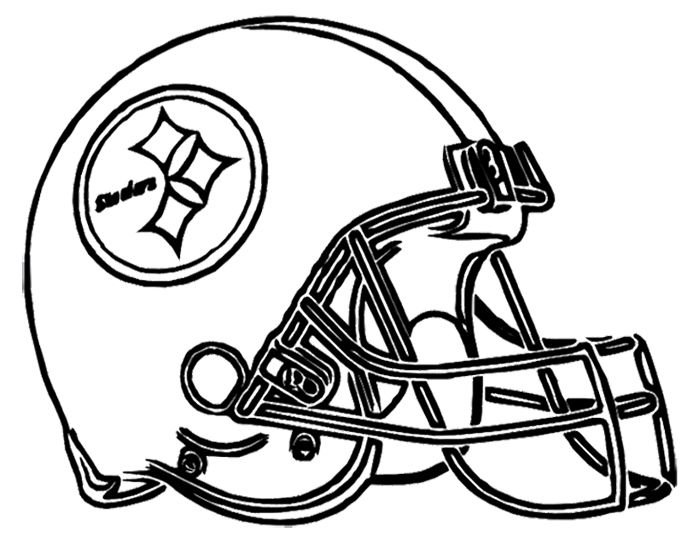 Football Helmet Steelers Pittsburgh Coloring Page Football