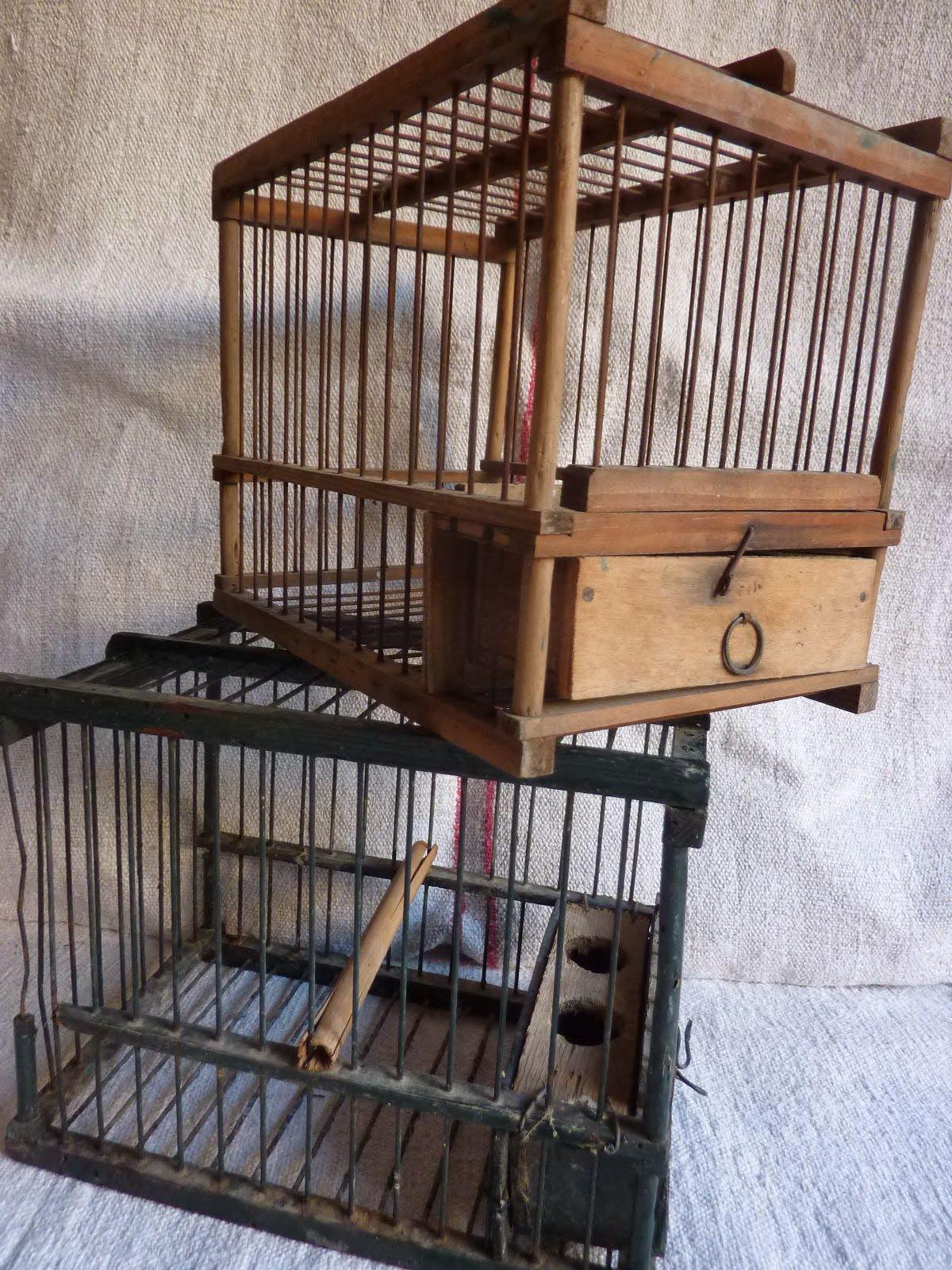Cages oiseaux anciennes cages anciennes pinterest - Cage oiseau decoration ...