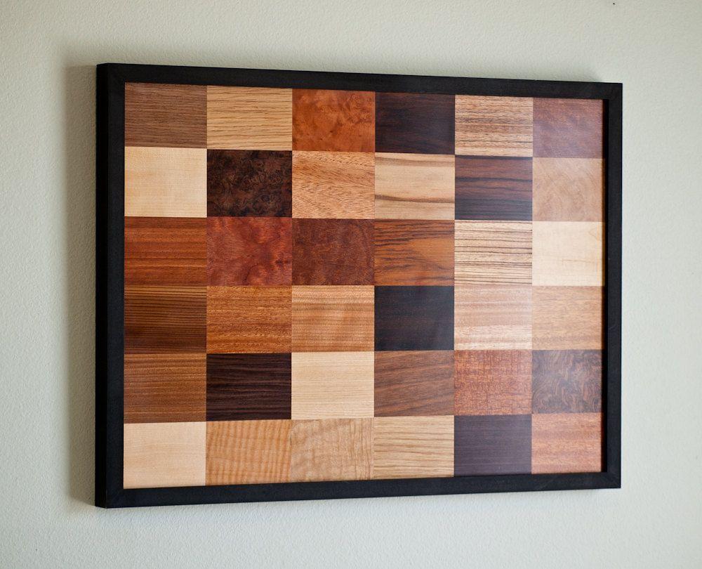 Wood Art Wall wall of wood - wood veneer wall hanging art. $220.00, via etsy