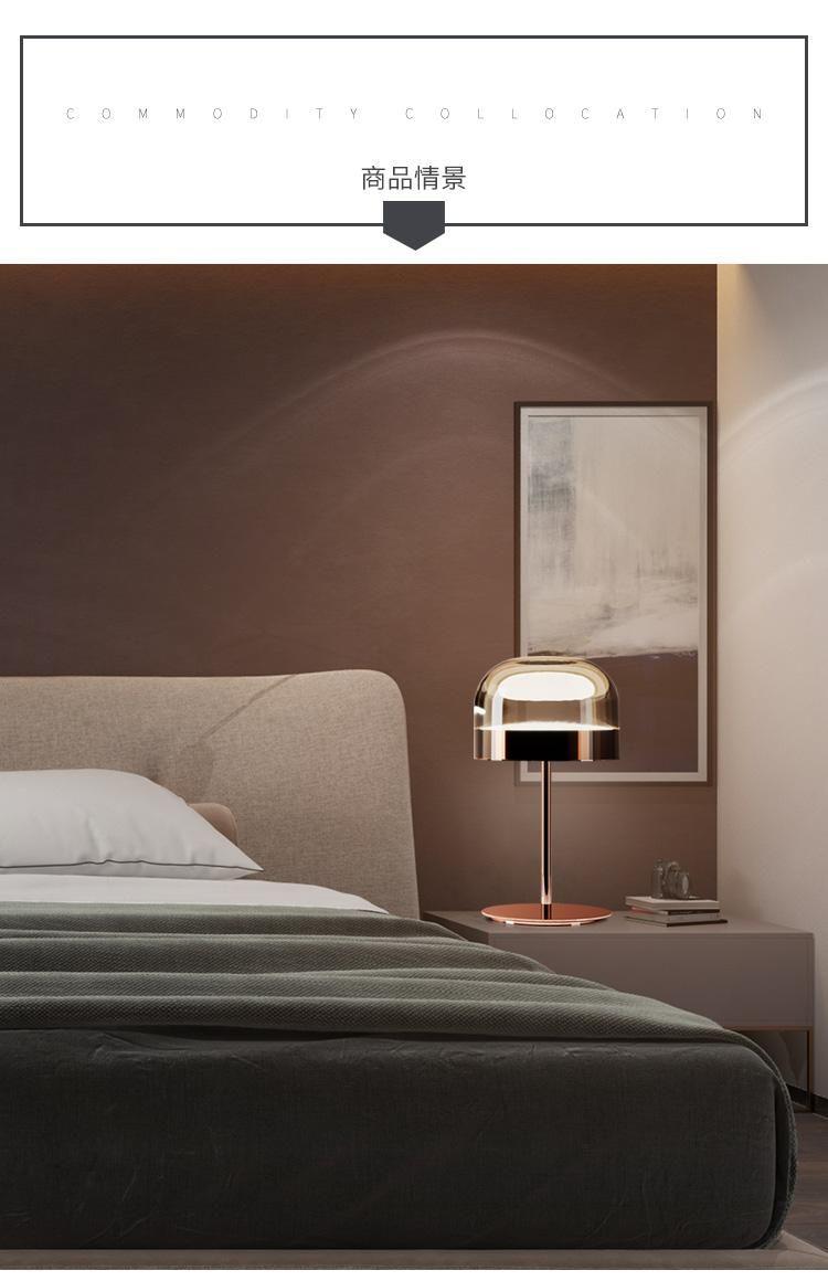 Comodino Lampade Camera Da Letto Design.Acquista Lampada Da Tavolo In Vetro Nordico Fungo Lampada Da