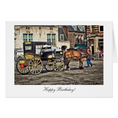 Horse and buggy taxi happy birthday card clicktap to horse and buggy taxi happy birthday card clicktap to personalize and buy bookmarktalkfo Image collections