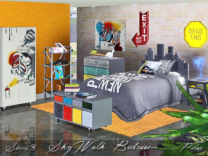 Bedroom For Youth Inspired By Urban Art Found In Tsr