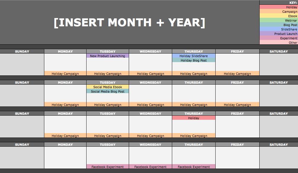 February     Am The Social Media Content Calendar