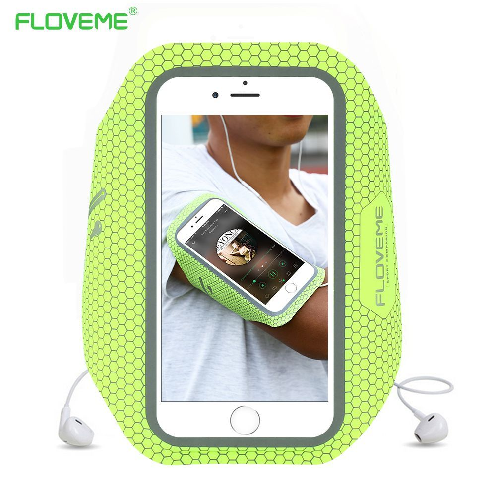 Floveme Sport Arm Band For Iphone 7 Plus 6 6s Cover Case Casing Glossy Diamond Iphone7 Mobile Phone Pouch Bag Running Jogging