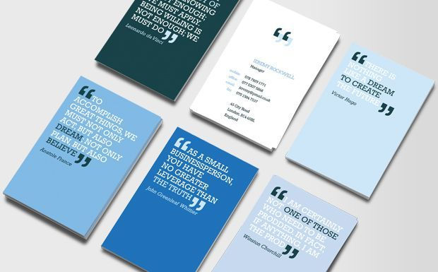 An Interesting Pack Of 50 Business Cards Featuring 7 Different Quotes Part Inspiration Mission Statement And Conversation Starter What More