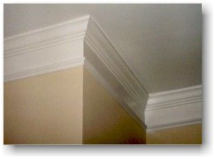 Easy Dropped Crown Molding Measure Down 4 Inches From The Bottom Of The Existing Crown And Put A Series Of Tick Marks O Crown Molding Painting Trim Baseboards