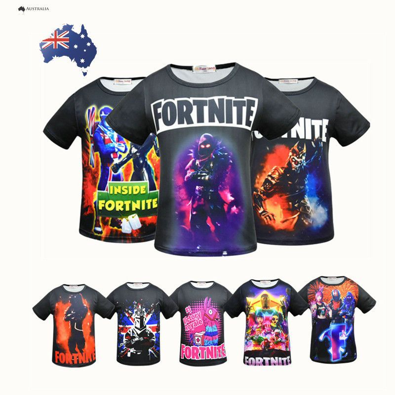 Cool Fortnite T Shirts Inspired Ps4 Xbox Gaming Boy Girls Kids T