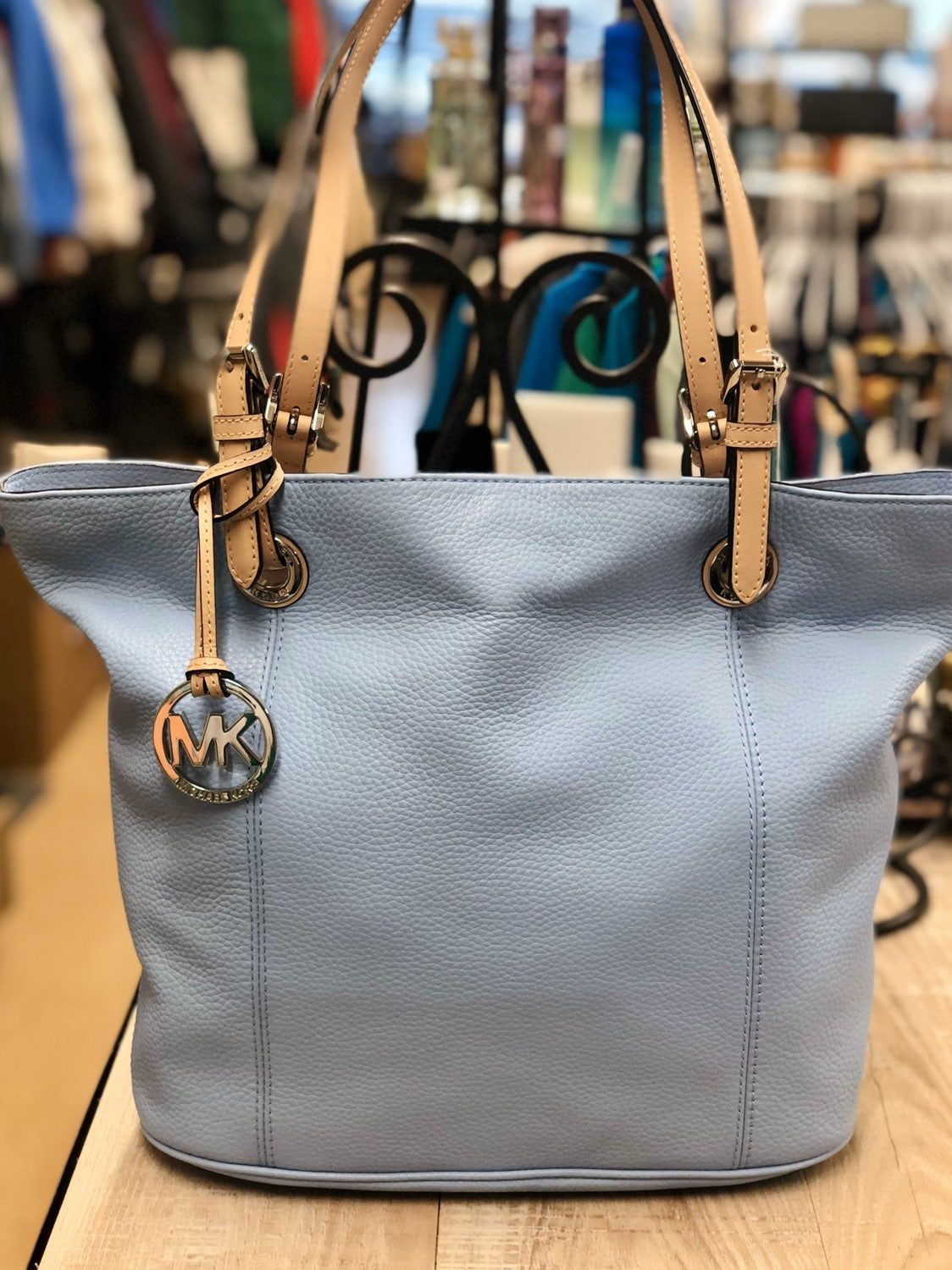 Light Blue Mk Purse In Excellent Condition Hardly Used Purses Michael Kors Michael Kors Shoulder Bag Purses