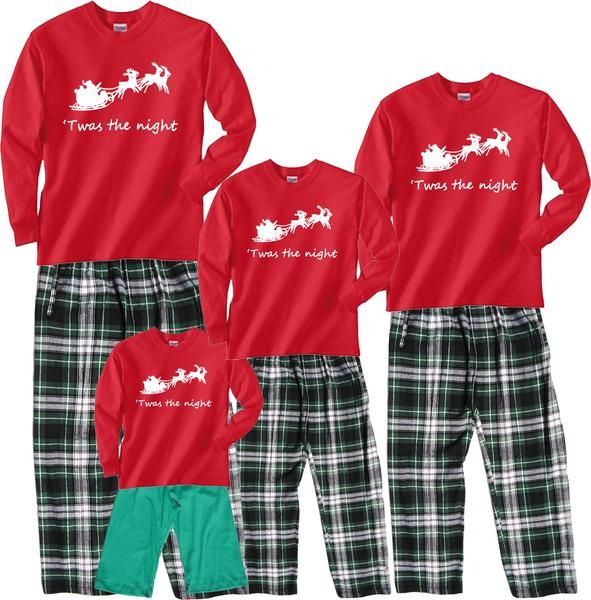 Santa's Sleigh 'Twas the Night Family Matching Sets | pjs | Outfit sets, Holiday outfits, Outfits