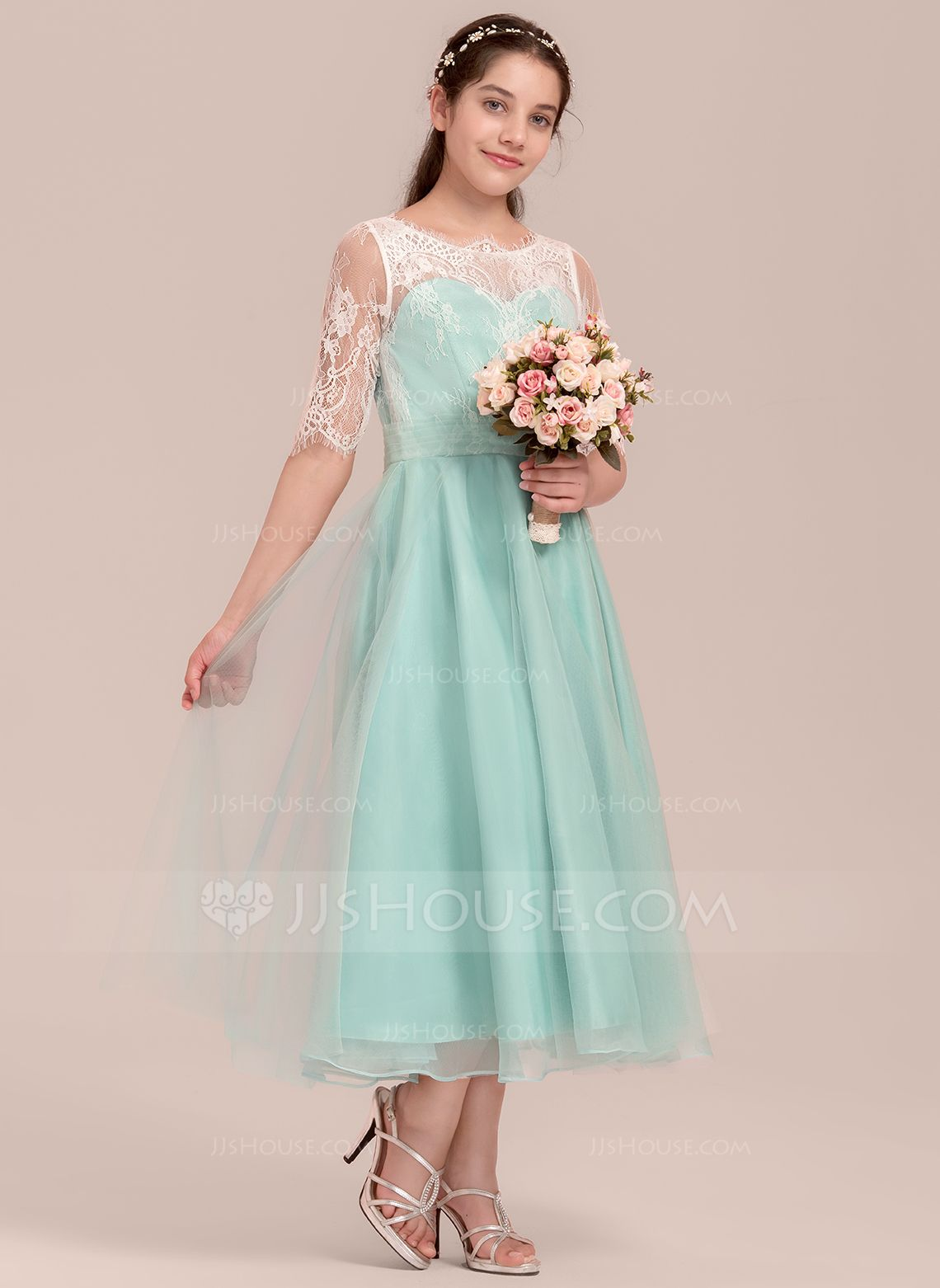 df1db10ed8b Long Tulle Junior Bridesmaid Dress - Gomes Weine AG