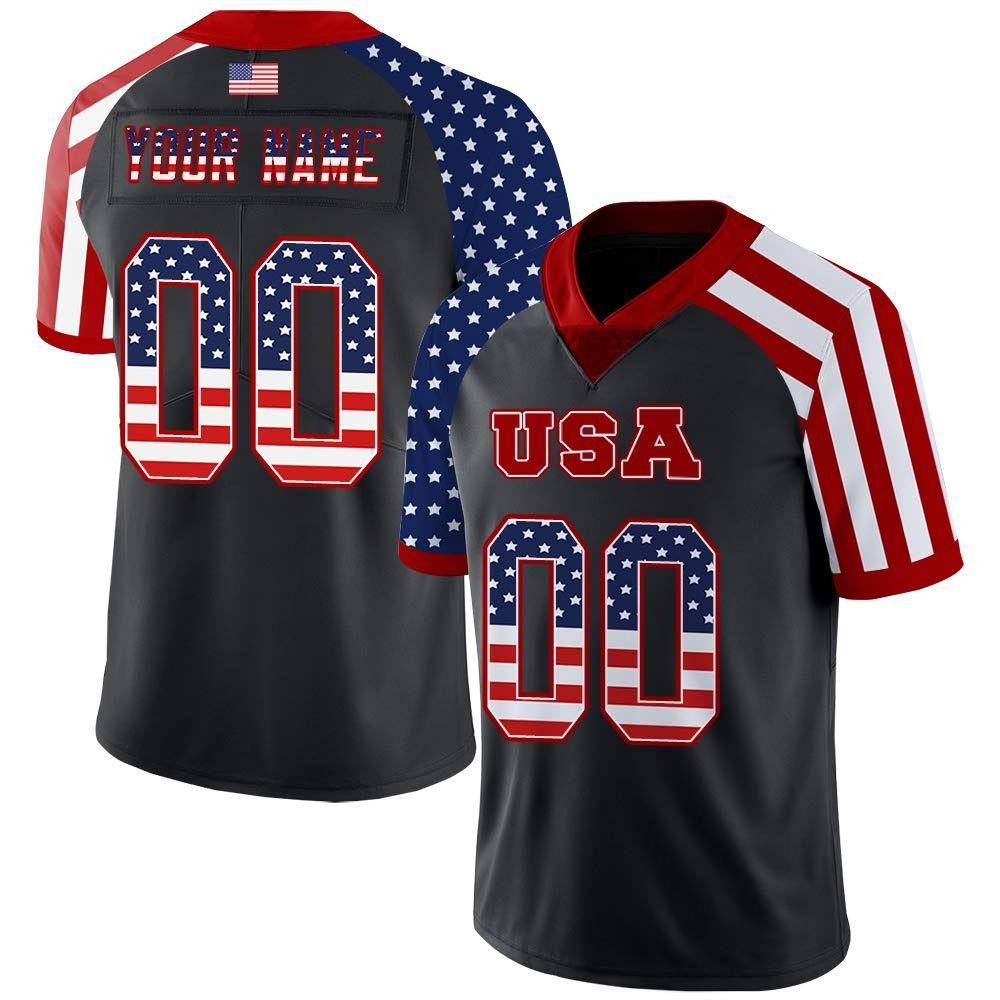 34994398 custom black usa flag style football jersey