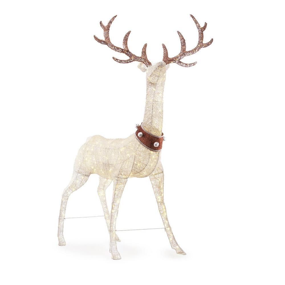 Home Accents Holiday 103in 320l Led Pvc Standing Deer With Jingle Bell C Outdoor Holiday Decor Outdoor Christmas Decorations Yard Outdoor Christmas Decorations
