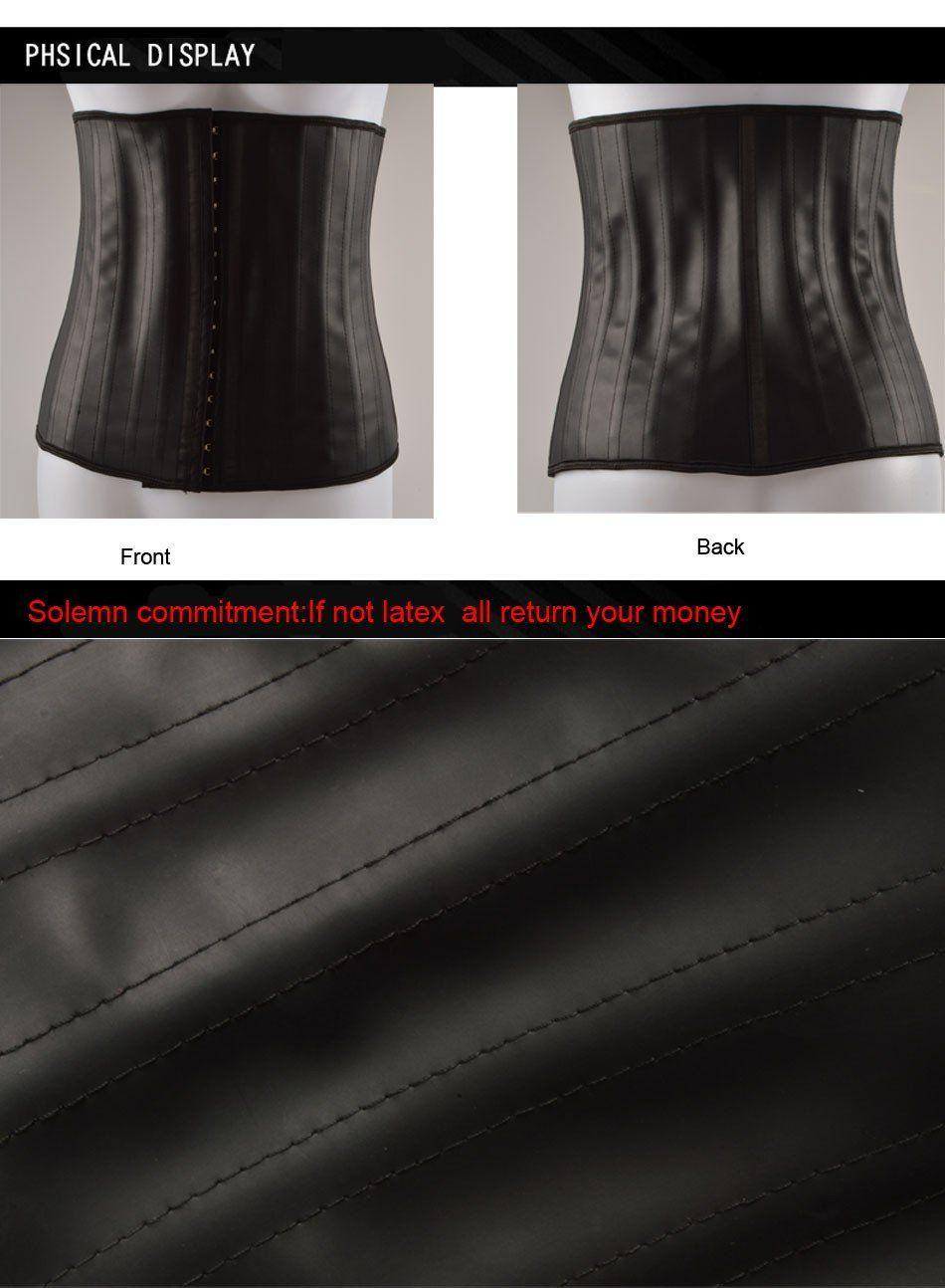 Latex Body Shaper Corset Waist Trainer Slimming Cincher Corset Latex Shapewear