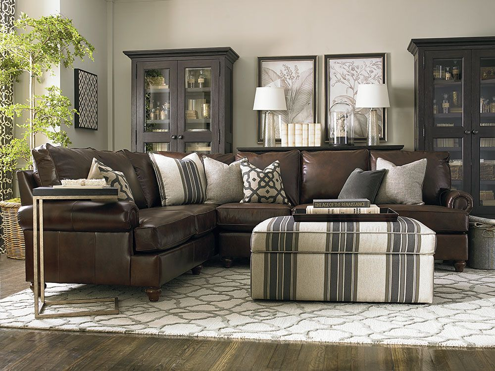 Leather Montague L Shaped Sectional Brown Living Room Leather Couches Living Room Living Room Leather