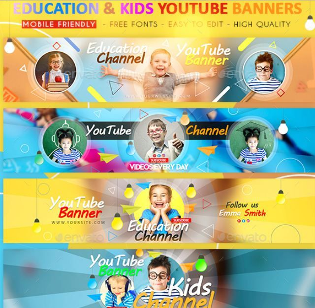 40+ YouTube Banner Template Psd For Channel Art