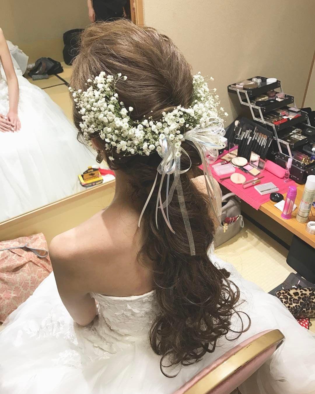 結婚式のお色直しで人気のダウンスタイルのブライダルヘアまとめ