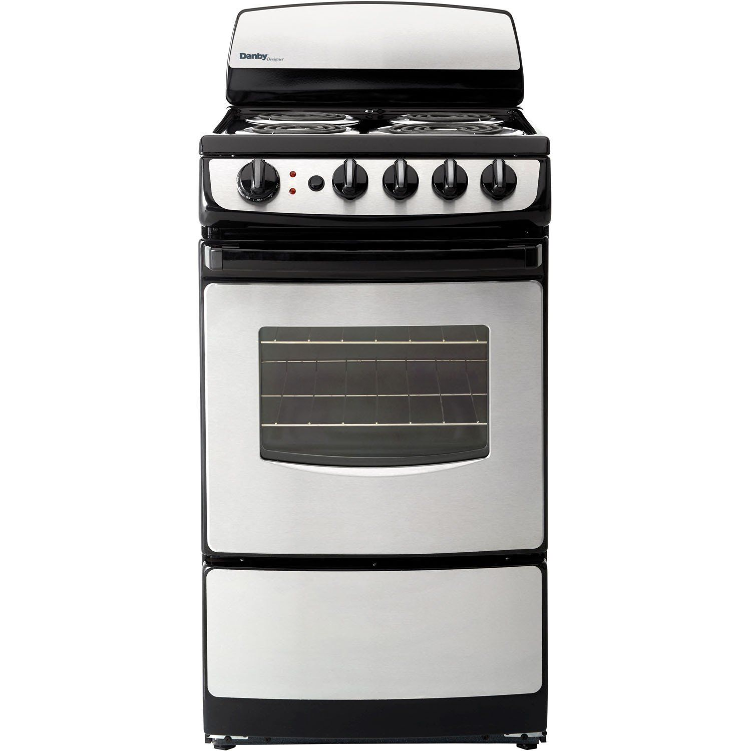 Danby 20 Electric Range Glass Door Window Stainless Front Der201bss Products Single Oven Oven Cleaning Electric Oven