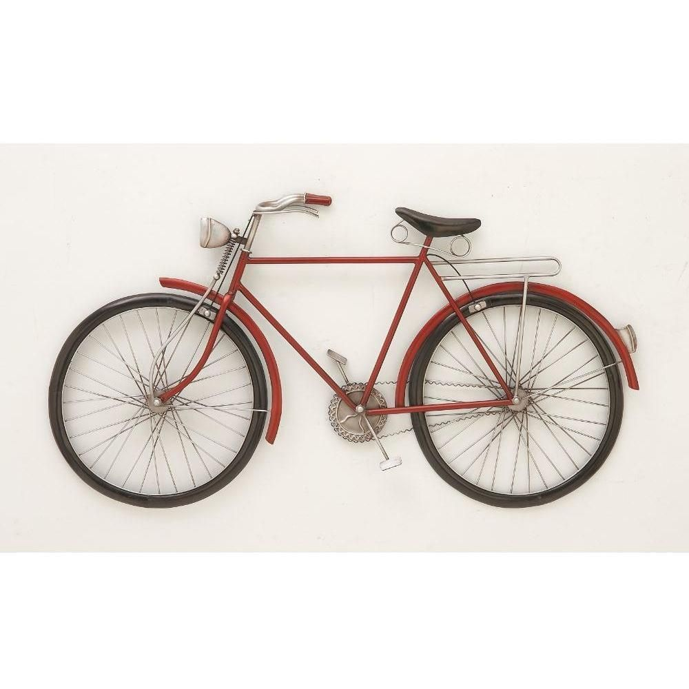 Fashionable metal red bike wall decor products pinterest products