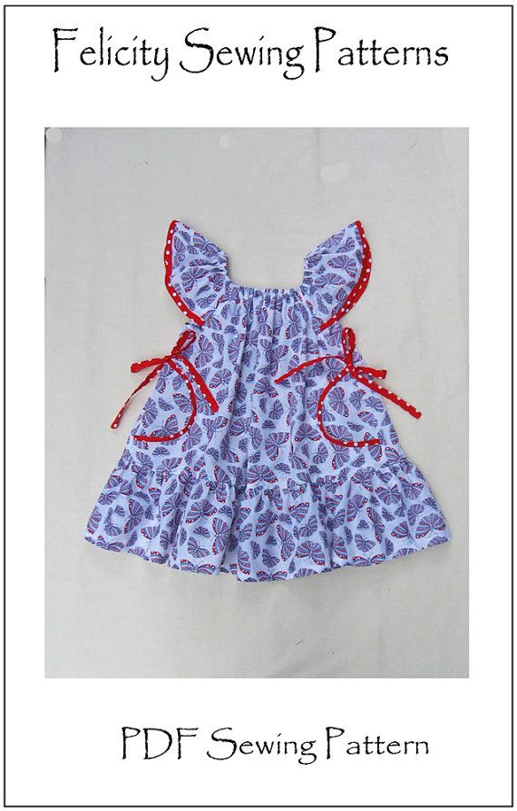 750cf2ce0d3f Butterfly Dress by Felicity Sewing Patterns. Girl s Dress Pattern ...