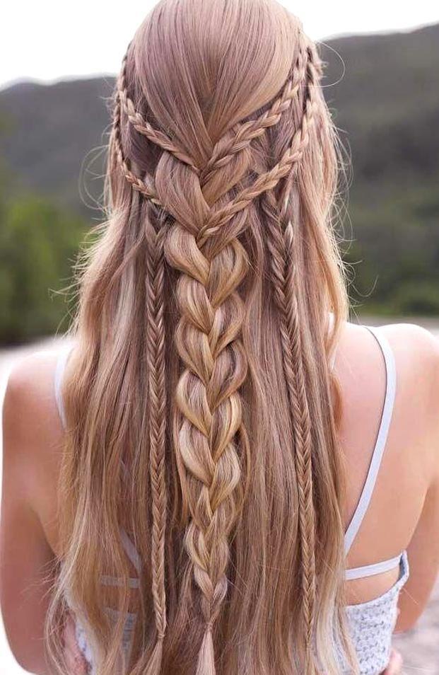 Pin on Frisuren lange haare geflochten