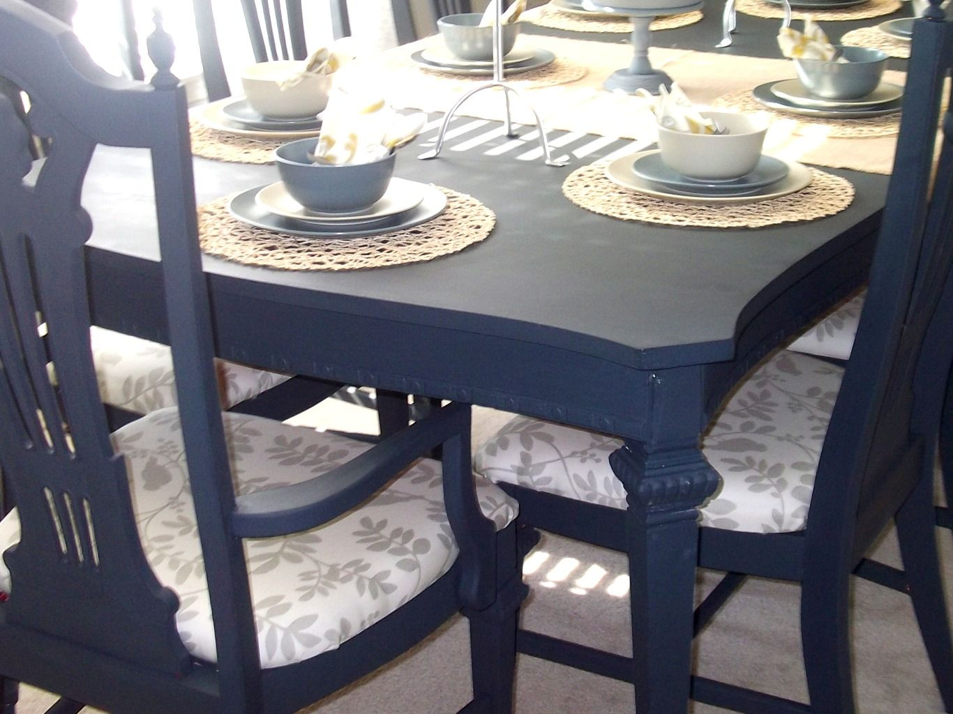 Marvelous Ideas For Painting Dining Room Table And Chairs Part - 8: Loving Life: Dining Room Table And Chairs Completed ~ Finally! - Home  Designs 2017