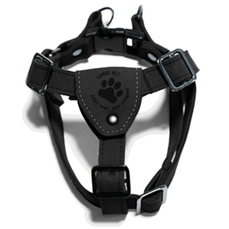 Gooby Luxury Step In Dog Harness Black Dog Harness Luxury Dog