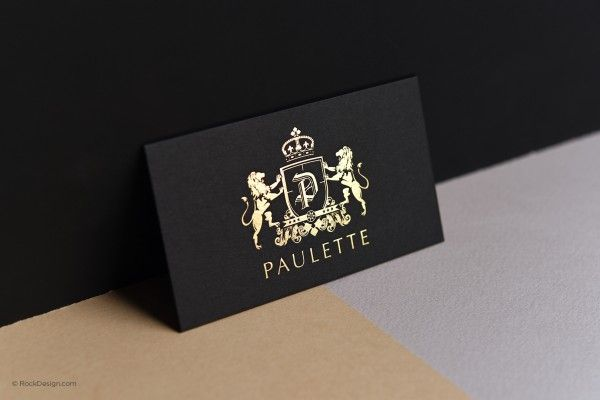 Black business card matte gold stamping elegant classy template black business card matte gold stamping elegant classy template paulette reheart Gallery