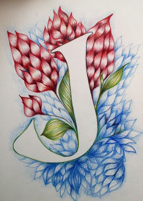 Letter J Drawing Typography With Images Doodle Lettering