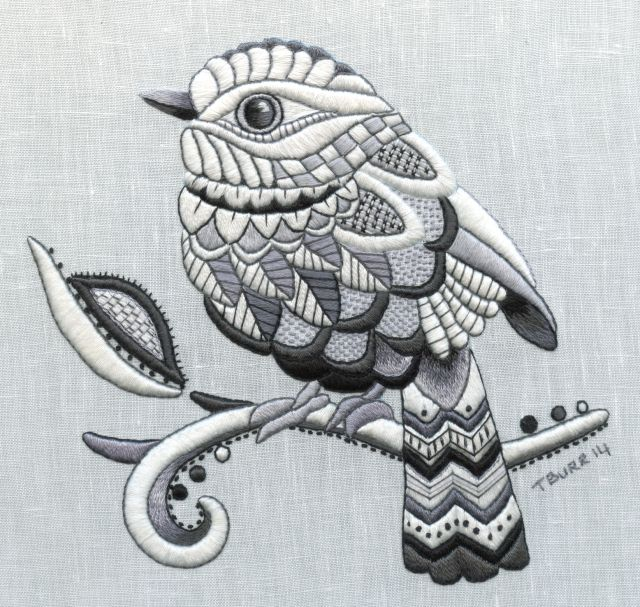 Zentangle Bird | bordado | Pinterest | Bordado, Bordado crewel y ...