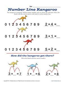 math worksheet : 1000 images about australia themed teaching resources for esol  : Number Line Worksheets Kindergarten