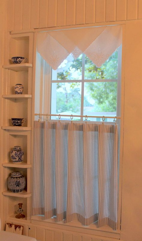 20 Anno Luv Panel Curtain Ikea With Images: Ticking Stripe Café Curtain In Your Choice Of Color Each
