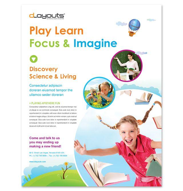 Child Education Center Flyer Template http\/\/wwwdlayouts - kindergarten brochure template