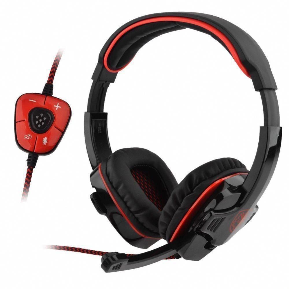 Sa 901 Sades 71 Bass Surround Sound Headband Gaming Headset For Pc Hansfree Sony Xperia Series Merah Laptop