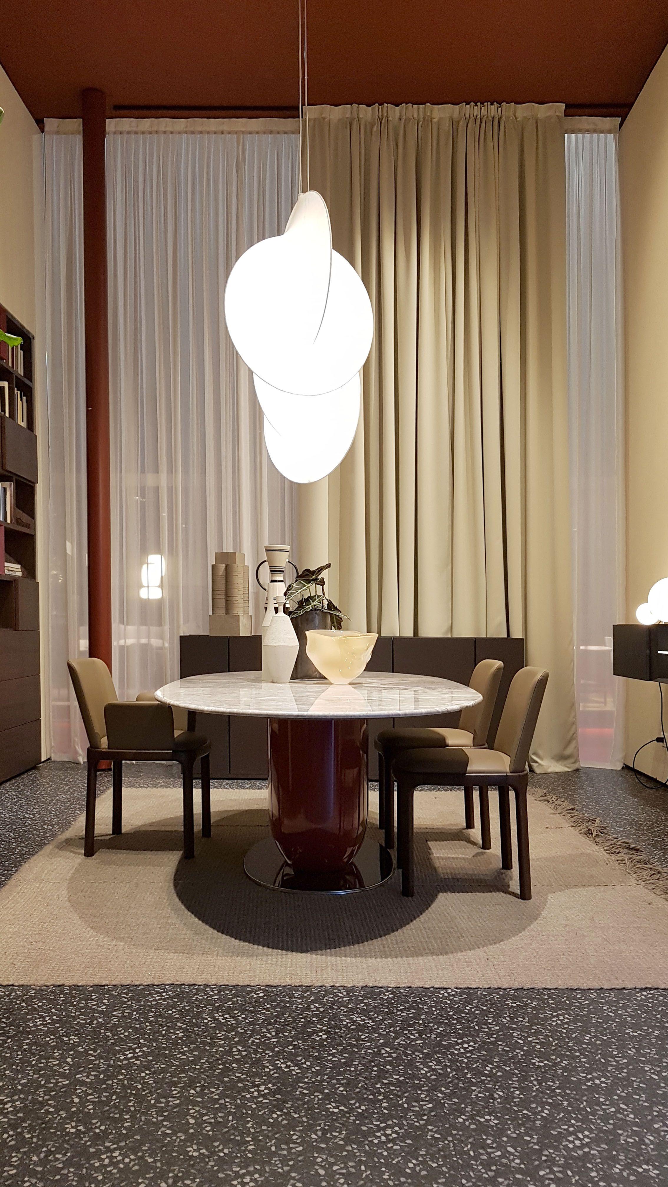 Ettore Table Design Calvi Brambilla Inari Chairs Design Philippe Tabet Salone Del Mobile Milano 2019 Pianca W Dining Table Chairs Interior Dining Table