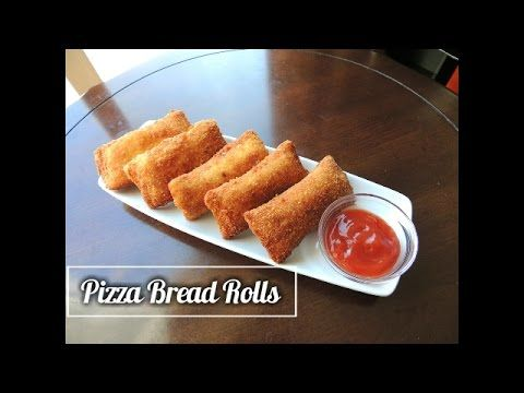 Bread Pizza Roll Recipe Homemade Pizza Bread Roll By Huma In The Kitchen Youtube Savory Snacks Homemade Recipes Calzone Recipe