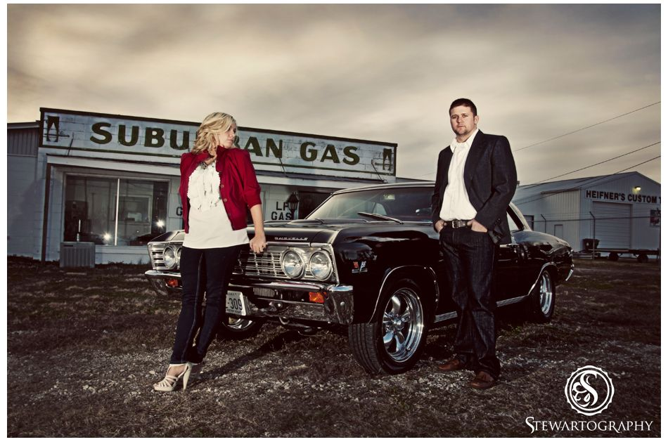 Engagement Pictures With Classic Car