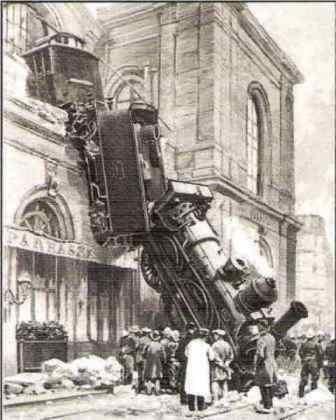 train wreck at montparnasse 1895 | accident ferroviaire de la gare Montparnasse