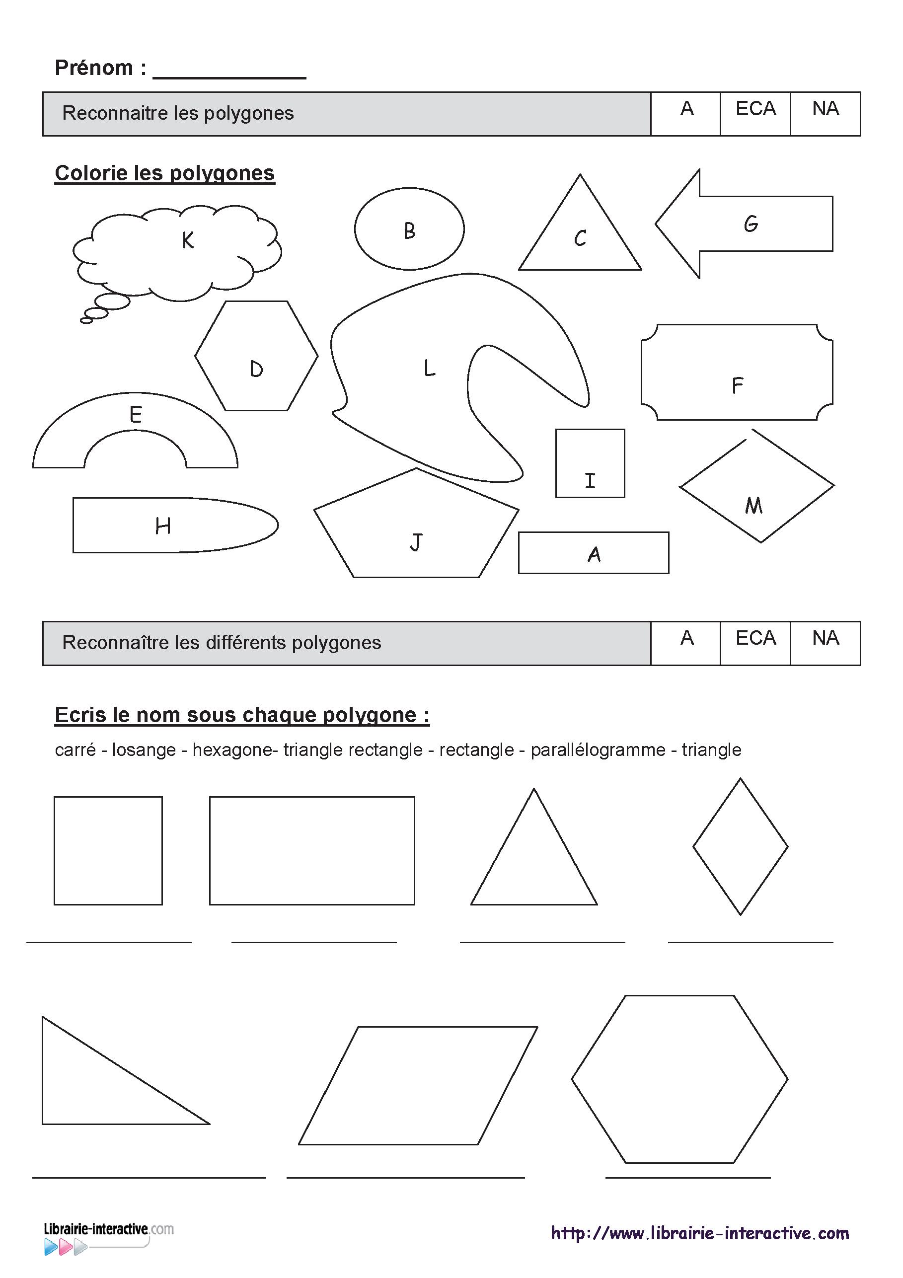 Librairie Interactive Evaluation Polygones Et Mesures Geometrie Ce1 Geometrie Ce2 Evaluation Geometrie Ce2