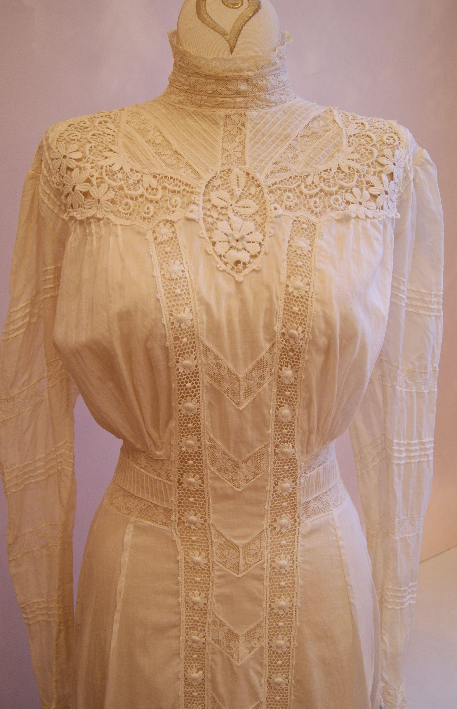 Vintage wedding dress vintage edwardian lace wedding dress available