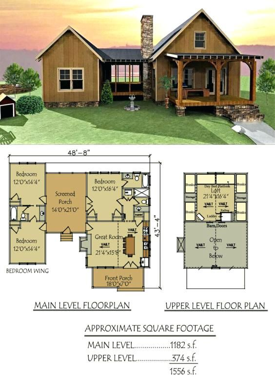 Small Floor Plans Cabins Dog Trot House Plan Lake Cabin