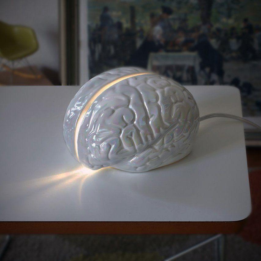 Brainstorm Table Lamp Brain Ceramic Lamp Brainstorming Geek Gadgets White Table Lamp