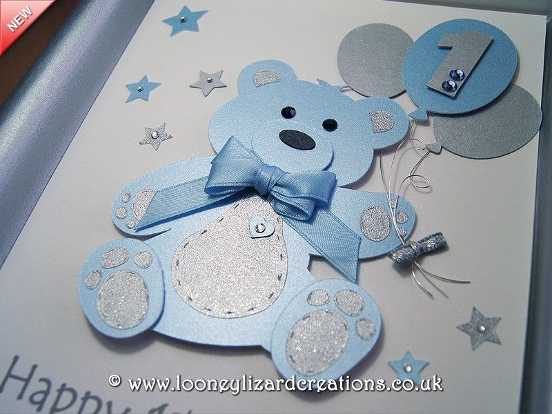 Details about 1st FIRST BIRTHDAY CARD for BOY Personalised Name – Special 1st Birthday Cards